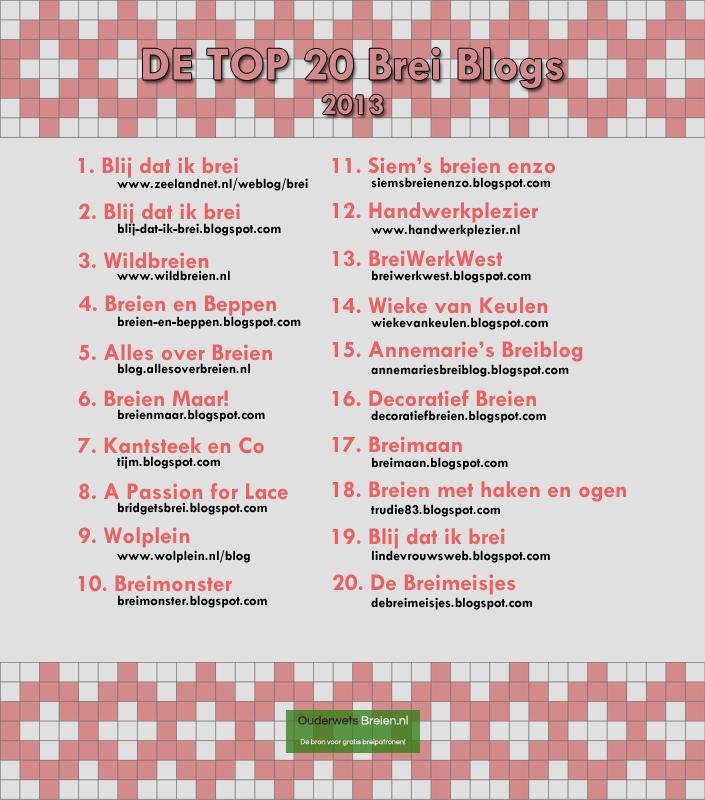 De Top Blogs Over Breien Uit 2013 Samengesteld Door Ouderwets Breien