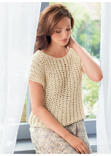 Makkelijke trui met korte mouwen breien - Ouderwets Breien