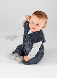 Gilet breien voor baby
