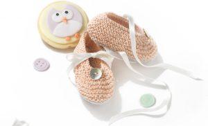 Babylaarsjes breien met de ribbelsteek