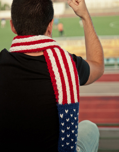 Amerikaanse sjaal breien