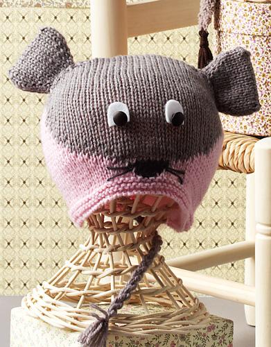 Babymuts breien van een muisje