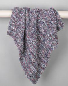 Eenvoudige deken breien van één bol wol
