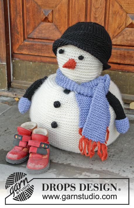 Sneeuwpop Breien Met Muts En Sjaal Ouderwets Breien