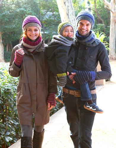 Vlotte 3-kleurige damesmuts met Pompon