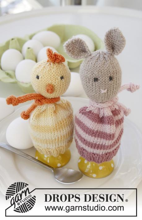 Eierwarmers Breien Van Een Kuiken En Haasje Ouderwets Breien