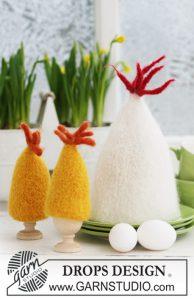 Gevilte eierwarmers breien voor Pasen