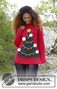 Foute kersttrui breien met kerstboom motief