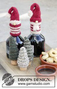 Kerstmannen en kerstbomen breien