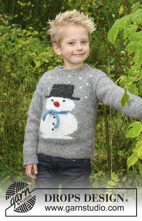 Kersttrui Voor Kinderen.Kersttrui Voor Kinderen Breien Met Sneeuwpop Ouderwets Breien
