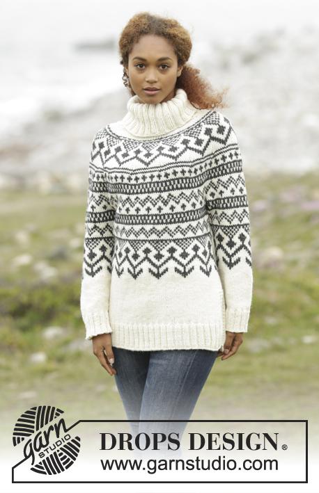 Noorse damestrui breien met ronde pas Ouderwets Breien
