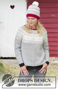Noorse trui en muts breien