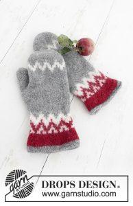 Vilten handschoenen breien met Noors motief