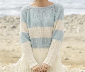 Gebreide trui met raglanmouwen