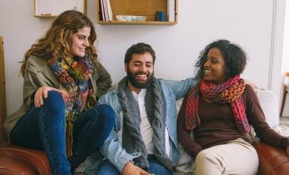 Makkelijke sjaal breien voor mannen