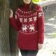 Noorse trui breien voor vrouwen