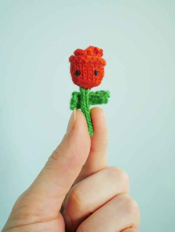 Deze leuke gebreide roos