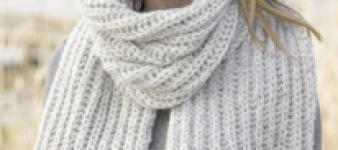 Sjaal breien met de patentsteek voor beginners