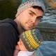 Papa en bijpassende babymuts